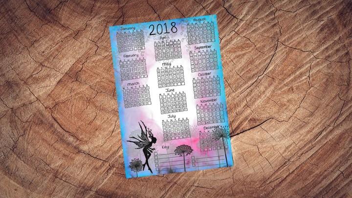 2018 Calendar Etsy Photo 1